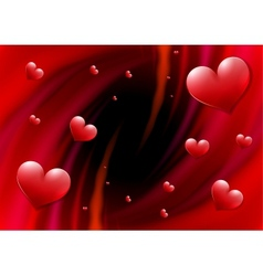 Valentines Day card with abstract vortex and vector image