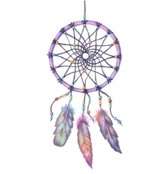 Watercolor dream catcher Hand drawn vector