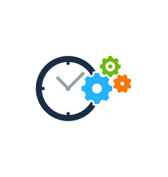 wheel time logo icon design vector image