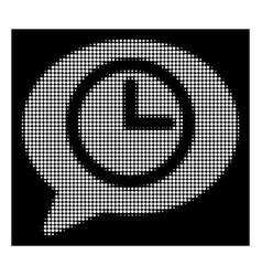 white halftone message time icon vector image