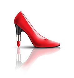 Womens shoes with lipstick heel vector