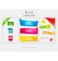 ribbon and banner collection vector image vector image
