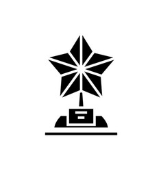 star trophy icon black sign vector image