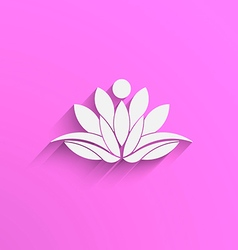 Yoga Lotus abstract vector image vector image
