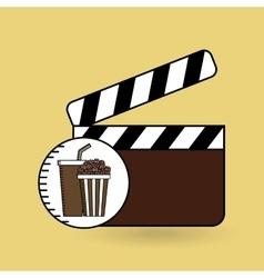 clapper movie pop corn design vector image vector image