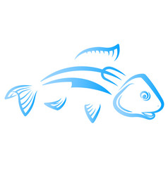 fish with knife and fork vector image