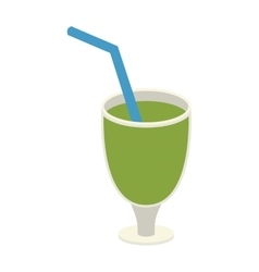 Green juice glass vector image
