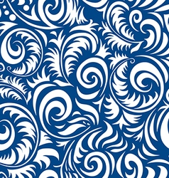 Traditional Russian seamless pattern in gzhel vector image