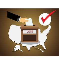US presidential election Vote vector image vector image