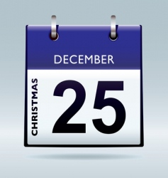 Christmas day calendar blue vector image vector image