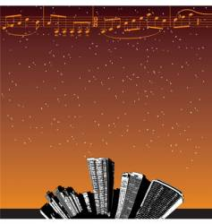city-music stars vector image vector image