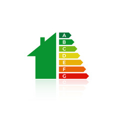 energy efficiency house icon vector image