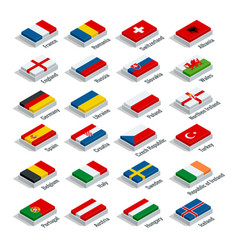 euro 2016 in france flags of european countries vector image vector image