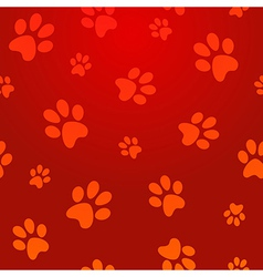footprints seamless pattern vector image vector image