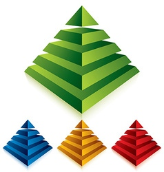 Pyramid icon isolated on white background vector