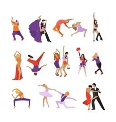 set of dancing people Dance design vector image