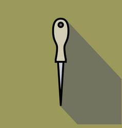 sharp awl tool vector image