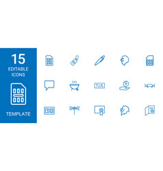 15 template icons vector image