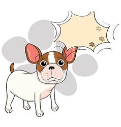 A sad bulldog with an empty callout vector