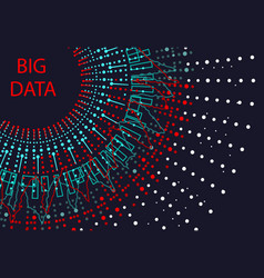 Abstract graph of the indicator of large data the vector