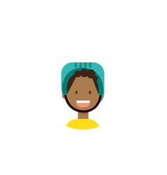 african children face happy girl helmet portrait vector image