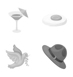Alcohol bird and other monochrome icon in cartoon vector