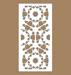 arabesque panel laser cutting template vector image