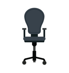 armchair furniture office wheel seat vector image