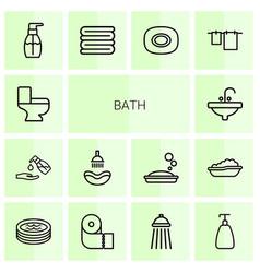 Bath icons vector