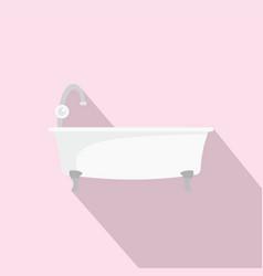 bathtube icon flat style vector image