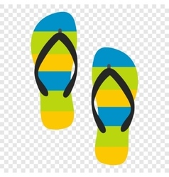 Beach slippers icon vector image