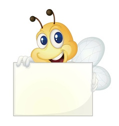 Bee with sign vector image