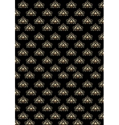 Black background with old classic pattern vector