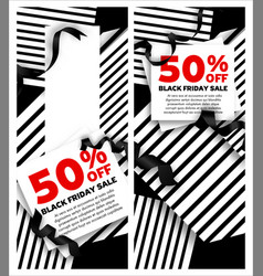 black friday sale banners with vector image