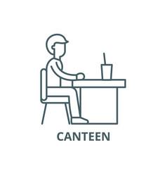 Canteen line icon canteen outline sign vector
