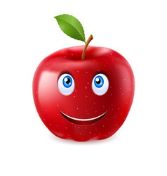 Cartoon apple vector