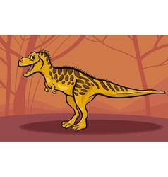 cartoon of tarbosaurus dinosaur vector image