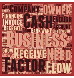 Cash Flow The Life Blood Of Every Business text vector image