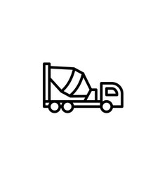 cement truck icon with line style vector image