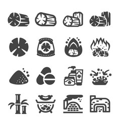 charcoal icon vector image