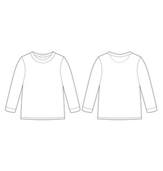 Childrens technical sketch sweatshirt kids wear vector
