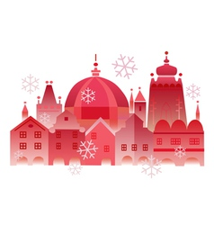 christmas winter historical town vector image