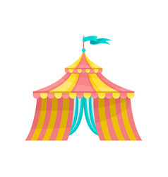circus tent amusement park element vector image