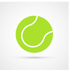 colored tennis ball trendy symbol vector image
