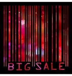 Colorful big sale bar code EPS 8 vector image vector image