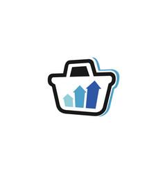 Creative cart arrow logo vector