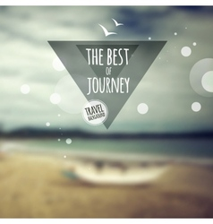 Creative graphic message for your travel design vector