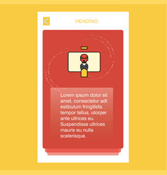 Danger board mobile vertical banner design design vector