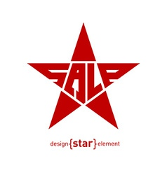 Description Sale on Abstract design element star vector