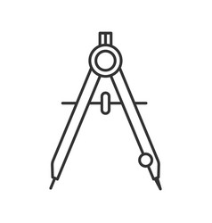 Drawing compass linear icon vector
